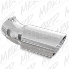 "MBRP T5154 6"" Rolled Edge Angle Cut Stainless T304 Exhaust Tip"