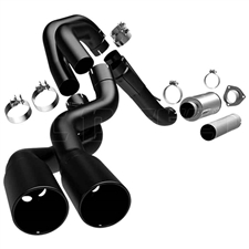 "MagnaFlow 17027 4"" Filter Back Black Series Dual Exhaust System for 2007-2010 GM 6.6L Duramax LMM"