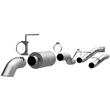 "MagnaFlow 17128 4"" Cat Back Off Road Pro Series Single Exhaust System for 2001-2007 GM 6.6L Duramax LB7, LLY, LBZ"