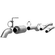 "MagnaFlow 17130 4"" Cat Back Off Road Pro Series Single Exhaust System for 2001-2007 GM 6.6L Duramax LB7, LLY, LBZ"