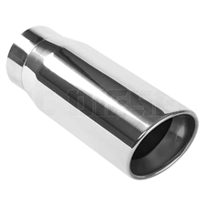 "MagnaFlow 35231 5"" Round Double Wall Rolled Edge Angle Cut Exhaust Tip"