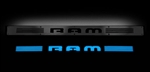 Recon 264121DGBK Illuminated Door Sill 2002-2012 Dodge Ram Black Anodized Blue Electroluminescence