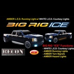 Recon 26414X Running Light Amber 60 inch Big Rig Ice with White Courtesy