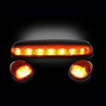 Recon 264155AM Cab Light Amber 2002-2007 GMC, Chevy
