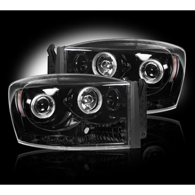 Recon 264199bk Projector Headlight Smoked 2006 2009 Dodge