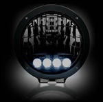 Recon 2646HIDBK Driving Light 6 inch Round HID w/ 6,250K LED DRL Smoked