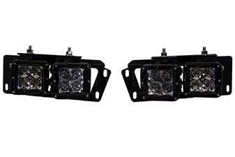 Rigid Industries 46510 D-Series Fog Light Mount Kit for 2010-2015 Dodge 6.7L Cummins