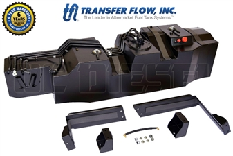 Transfer Flow 080-BL-16565 60 Gallon Midship Replacement Tank for 2017 Ford 6.7L Powerstroke