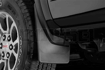 WeatherTech 110036 Front MudFlaps for 2014-2017 GM 6.6L Duramax LML, LP5
