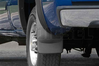 WeatherTech 120005 Rear MudFlaps for 2001-2007 GM 6.6L Duramax LB7, LLY, LBZ