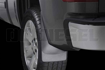WeatherTech 120011 Rear MudFlaps for 2007-2014 GM 6.6L Duramax LMM, LML