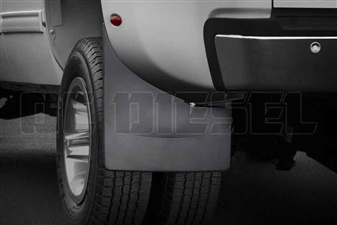 WeatherTech 120025 Rear MudFlaps for 2007-2014 GM 6.6L Duramax LMM, LML
