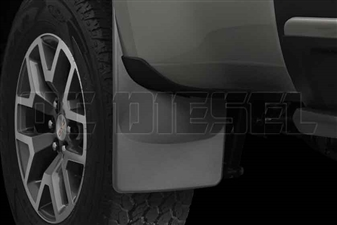 WeatherTech 120049 Rear MudFlaps for 2015-2017 GM 2.8L Duramax LWN
