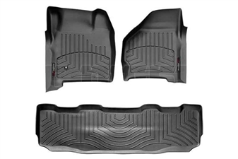 WeatherTech 44002-1-2 Black FloorLiner Set for 1999-2007 Ford 7.3L, 6.0L Powerstroke