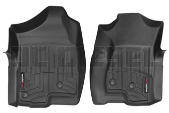 WeatherTech 440031 Black Front FloorLiner for 2001-2007 GM 6.6L Duramax LB7, LLY, LBZ
