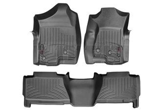 WeatherTech 440031-440612 Black FloorLiner Set for 2001-2003 GM 6.6L Duramax LB7