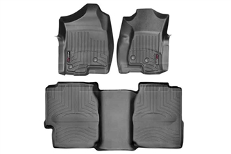 WeatherTech 440031-440622 Black FloorLiner Set for 2001-2007 GM 6.6L Duramax LB7, LLY, LBZ