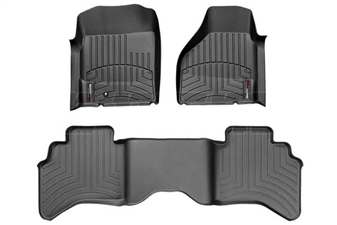 WeatherTech 440121-440042 Black FloorLiner Set for 2003-2009 Dodge 5.9L, 6.7L Cummins