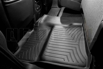 WeatherTech 440660 Black Rear FloorLiner for 2007-2014 GM 6.6L Duramax LMM, LML