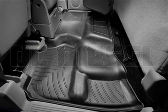 WeatherTech 440669 Black Rear FloorLiner for 2007-2013 GM 6.6L Duramax LMM, LML