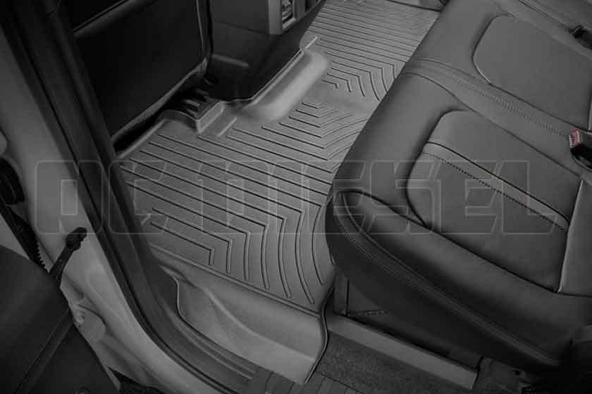 WeatherTech 440022 Custom Fit Rear FloorLiner for Select Ford Models Black