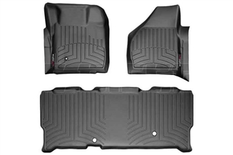 WeatherTech 441201-440023 Black FloorLiner Set for 2008-2010 Ford 6.4L Powerstroke