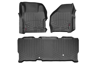 WeatherTech 441251-440023 Black FloorLiner Set for 1999-2007 Ford 7.3L, 6.0L Powerstroke