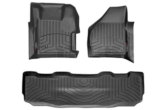 WeatherTech 441261-440022 Black FloorLiner Set for 2008-2010 Ford 6.4L Powerstroke