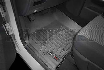 WeatherTech 442931 Black Front FloorLiner for 2008-2010 Ford 6.4L Powerstroke