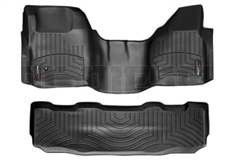 WeatherTech 442931-440022 Black FloorLiner Set for 2008-2010 Ford 6.4L Powerstroke