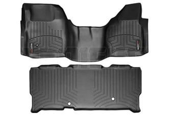 WeatherTech 442931-440023 Black FloorLiner Set for 2008-2010 Ford 6.4L Powerstroke
