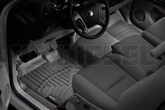 WeatherTech 442941 Black Front FloorLiner for 2007-2014 GM 6.6L Duramax LMM, LML