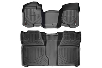 WeatherTech 442941-440660 Black FloorLiner Set for 2007-2014 GM 6.6L Duramax LMM, LML
