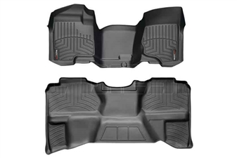 WeatherTech 442941-440669 Black FloorLiner Set for 2007-2013 GM 6.6L Duramax LMM, LML
