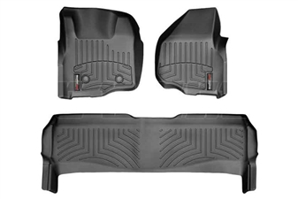 WeatherTech 44305-1-2 Black FloorLiner Set for 2011-2012 Ford 6.7L Powerstroke