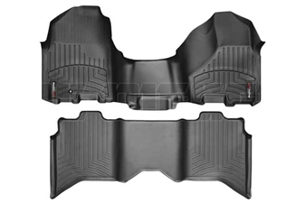 WeatherTech 443281-442163 Black FloorLiner Set for 2010-2012 Dodge 6.7LCummins