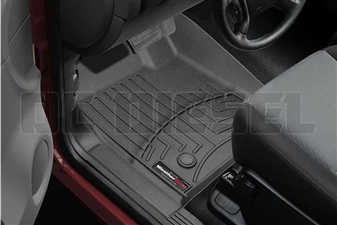 WeatherTech 443431 Black Front FloorLiner for 2007-2014 GM 6.6L Duramax LMM, LML