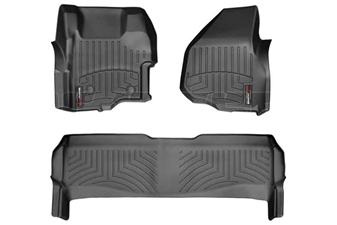 WeatherTech 444261-443052 Black FloorLiner Set for 2011-2012 Ford 6.7L Powerstroke