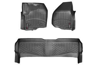 WeatherTech 444331-443052 Black FloorLiner Set for 2012-2016 Ford 6.7L Powerstroke