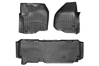 WeatherTech 444331-443053 Black FloorLiner Set for 2012-2016 Ford 6.7L Powerstroke