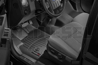 WeatherTech 444341 Black Front FloorLiner for 2012-2016 Ford 6.7L Powerstroke