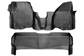 WeatherTech 444341-443052 Black FloorLiner Set for 2012-2016 Ford 6.7L Powerstroke