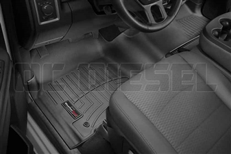 WeatherTech 444771 Black Front FloorLiner for 2012-2017 Dodge 6.7L Cummins