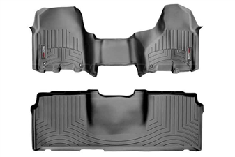 WeatherTech 444771-440123 Black FloorLiner Set for 2012-2017 Dodge 6.7L Cummins