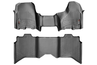 WeatherTech 444771-442163 Black FloorLiner Set for 2012-2017 Dodge 6.7L Cummins