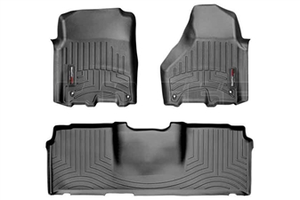 WeatherTech 444781-440123 Black FloorLiner Set for 2012-2017 Dodge 6.7L Cummins