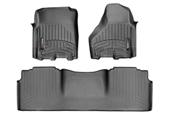WeatherTech 444781-444772 Black FloorLiner Set for 2012-2017 Dodge 6.7L Cummins