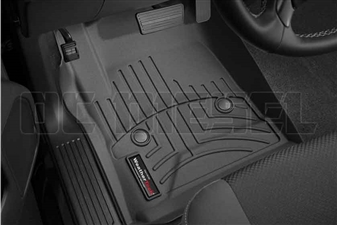 WeatherTech 445441 Black Front FloorLiner for 2014-2017 GM 6.6L Duramax LML, LP5