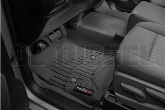 WeatherTech 445451 Black Front FloorLiner for 2014-2017 GM 6.6L Duramax LML, LP5