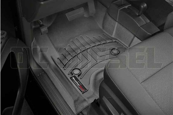WeatherTech 447221 Black Front FloorLiner for 2014-2017 GM 6.6L Duramax LML, LP5